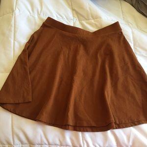 Burnt Orange Skater Skirt